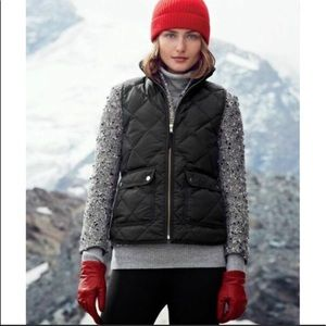 J. Crew Quilted Puffer Vest Navy Blue XL
